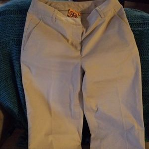 EUC Tory Burch khaki cropped pants